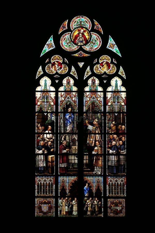 Het venster van de kerk royalty-vrije stock fotografie