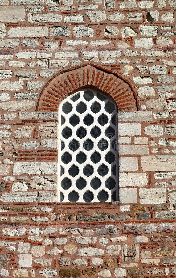 Het venster van de ottomanestijl stock foto's