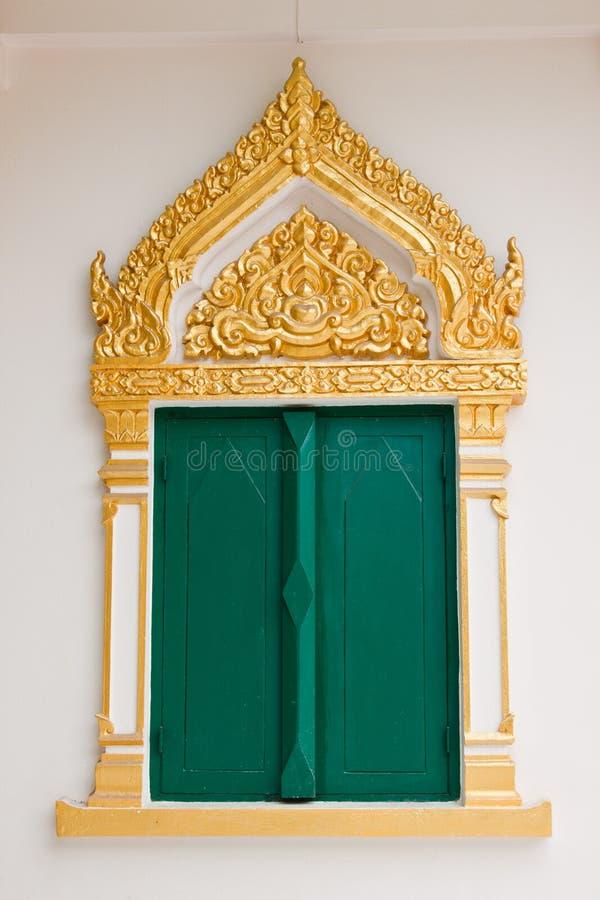 Het venster van de tempel stock afbeeldingen