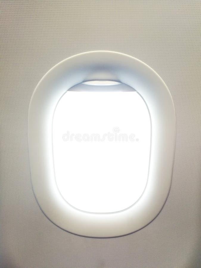 Het venster van de vliegtuigmening is open royalty-vrije stock foto's