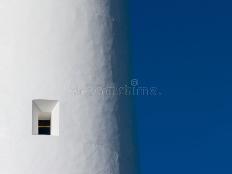 Het venster van de vuurtoren stock fotografie