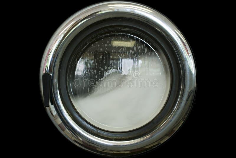 Het Venster van de wasmachine royalty-vrije stock foto