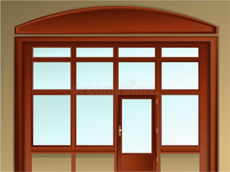 Het venster van de winkel vector illustratie