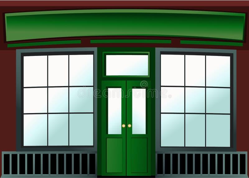 Het venster van de winkel stock illustratie