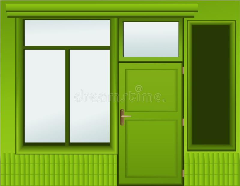 Het venster van de winkel royalty-vrije illustratie