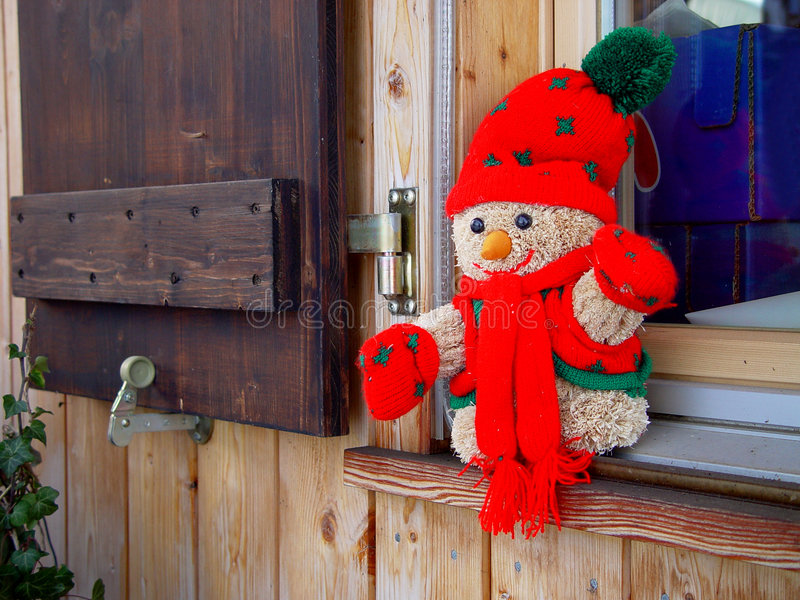 Het Venster Van De Winter Royalty-vrije Stock Foto's