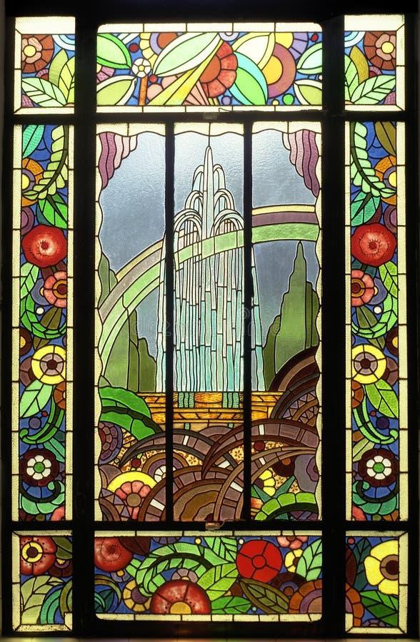 Het venster van het gebrandschilderd glas royalty-vrije stock foto's
