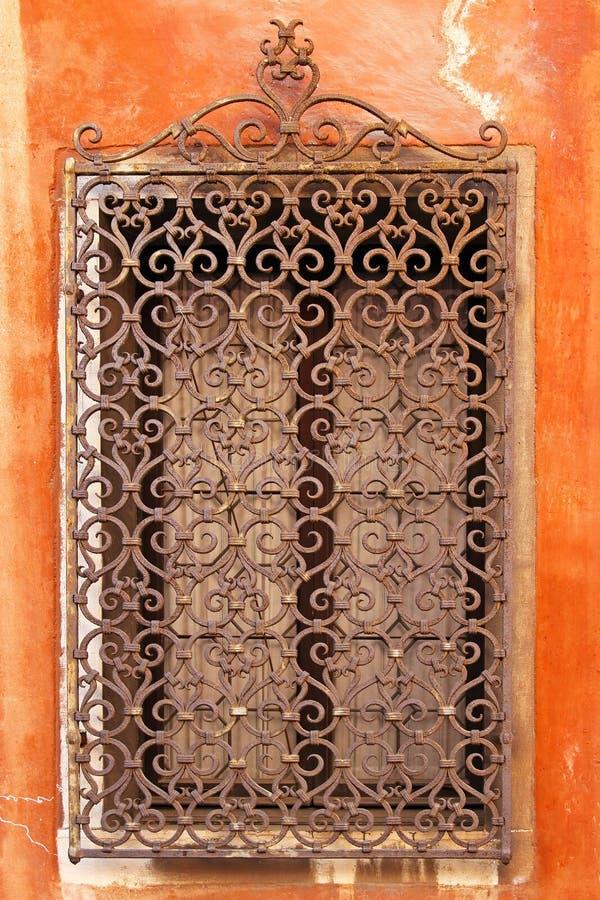 Het venster van het ijzer royalty-vrije stock afbeeldingen