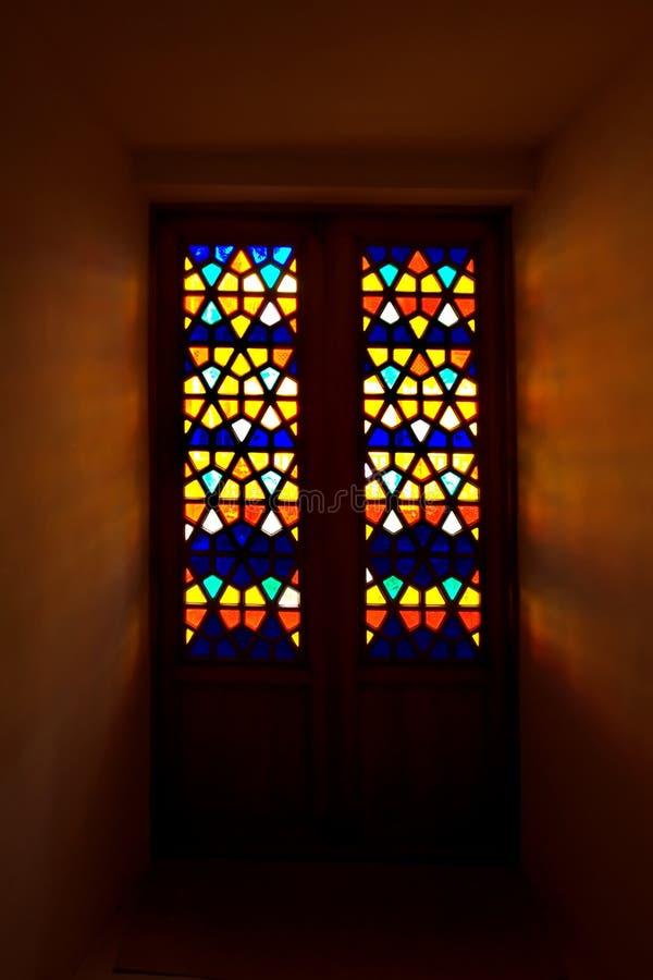 Het venster van het mozaïek stock afbeelding