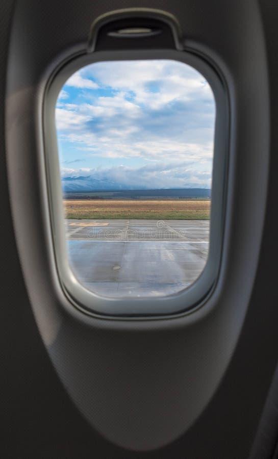 Het venster van het vliegtuig royalty-vrije stock foto