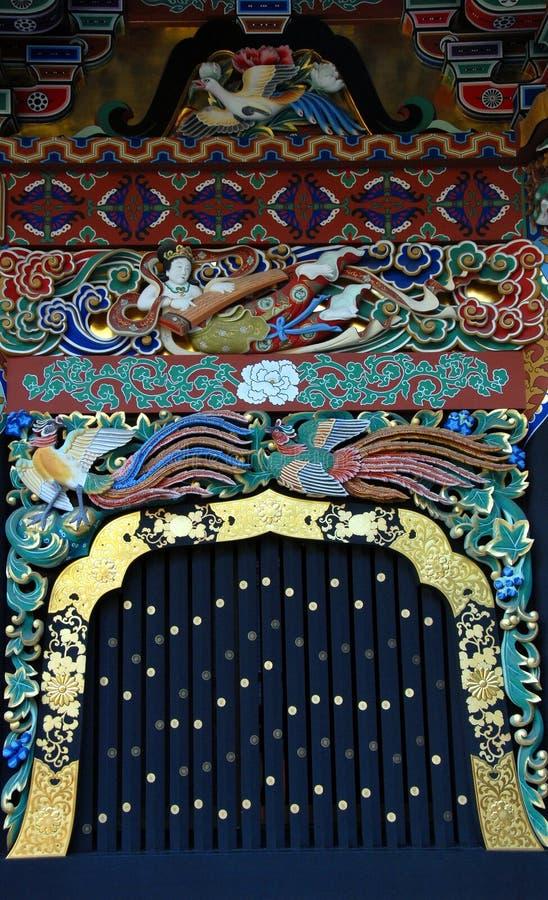 Het venster van het Zuihodenmausoleum stock afbeeldingen