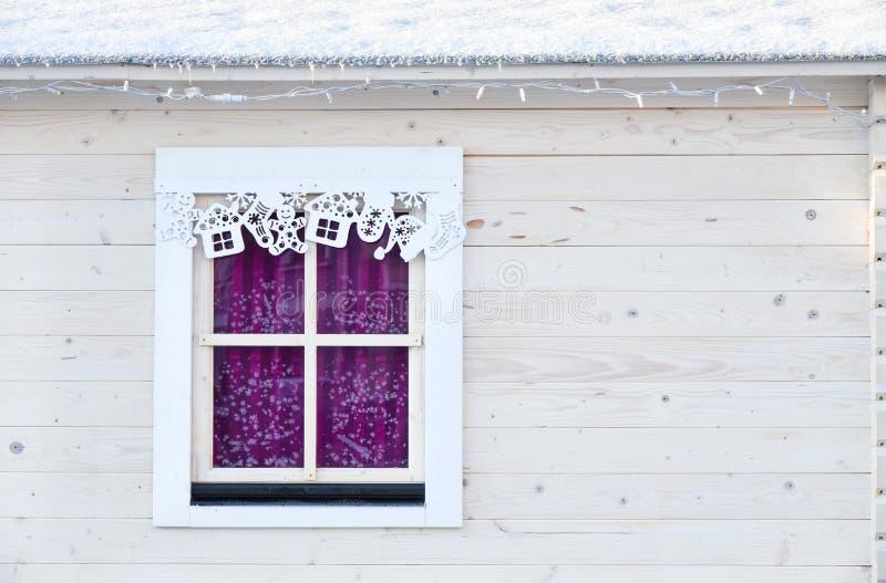 Het venster van Kerstmis stock afbeeldingen