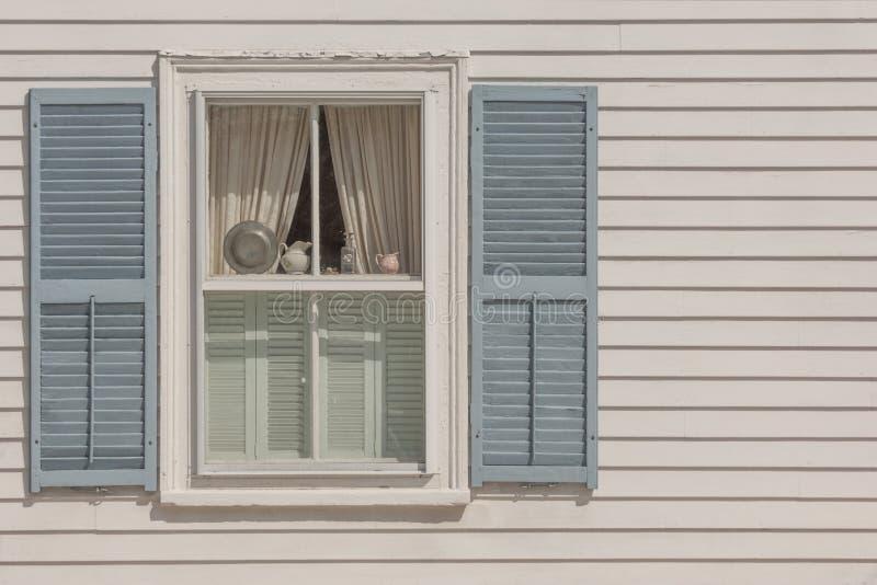 Het venster van New England stock afbeelding