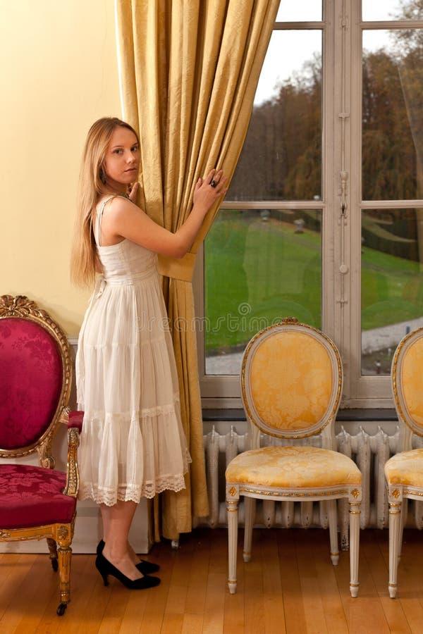 Het vensterpark van het vrouwenkasteel stock foto's
