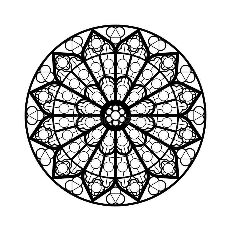 Het venstervorm van het gebrandschilderd glas vector illustratie