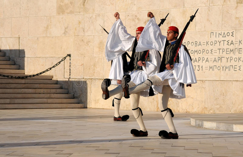 Het veranderen van de Wacht in Athene royalty-vrije stock foto