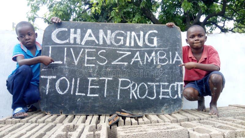 Het veranderende leven Zambia royalty-vrije stock afbeelding