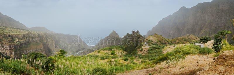 Het verbazen mountainscape van Ribeira DE Janela op Santo Antao Cape Verde royalty-vrije stock foto