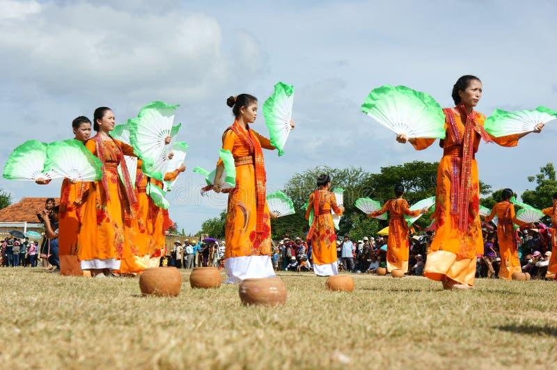 Het verbazen toont, Vietnamees stadion, Kate Carnaval stock fotografie