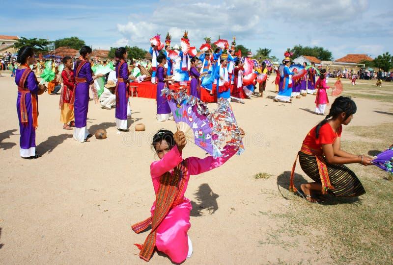 Het verbazen toont, Vietnamees stadion, Kate Carnaval stock afbeelding