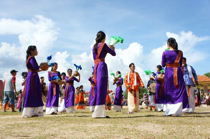 Het verbazen toont, Vietnamees stadion, Kate Carnaval stock foto