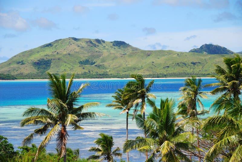 Het verbazende eiland van Fiji en duidelijke overzees royalty-vrije stock foto