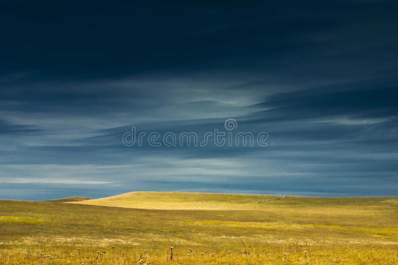 Het verbazende Landschap van het de Prairiedomein van Kansas Tallgrass royalty-vrije stock afbeeldingen
