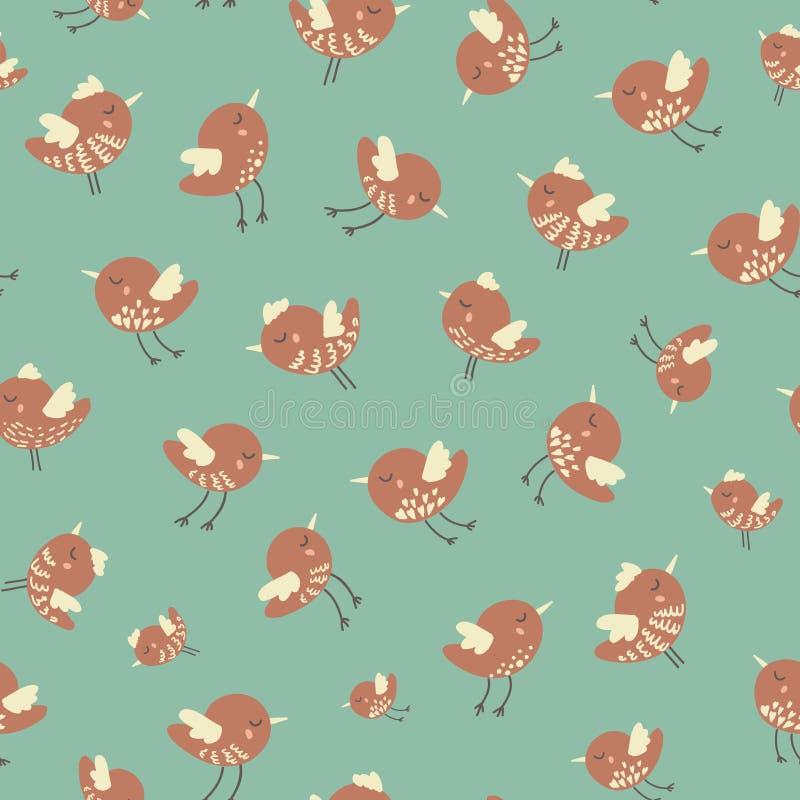Het verbazende leuke naadloze uitstekende kleurrijke patroon van de vogelkip royalty-vrije stock foto's