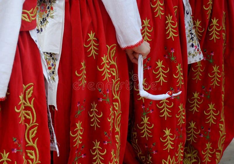 Het verbazende magische Turks danst in Edirne stock foto's