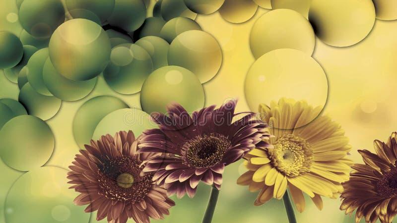 Het verbazende ontwerp van het bloemenbehang royalty-vrije stock afbeelding