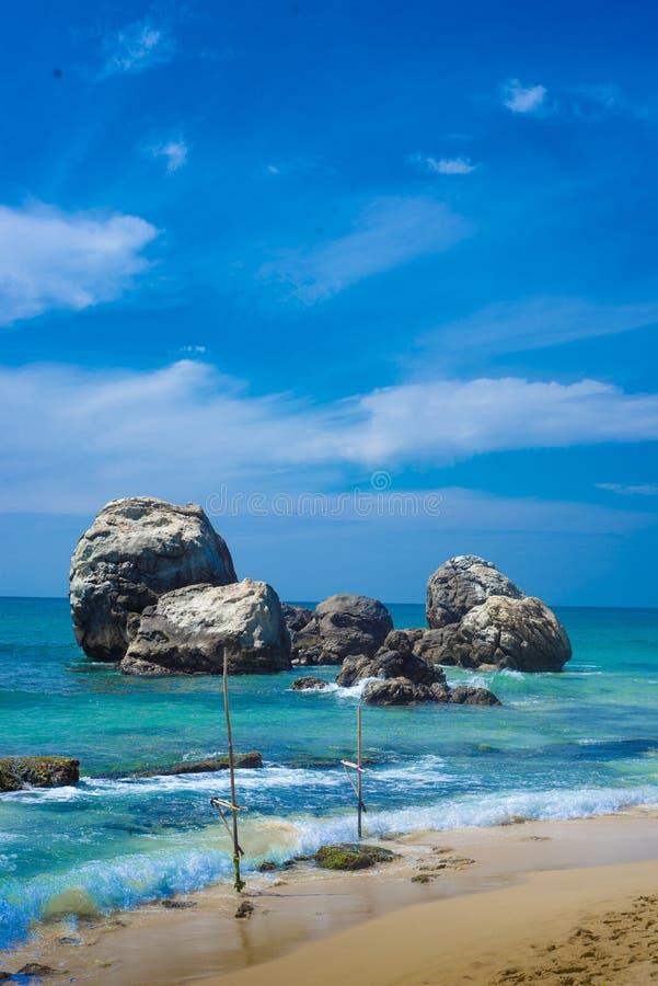 Het Verbazende Strand van Lanka van de zomerinsri royalty-vrije stock foto's