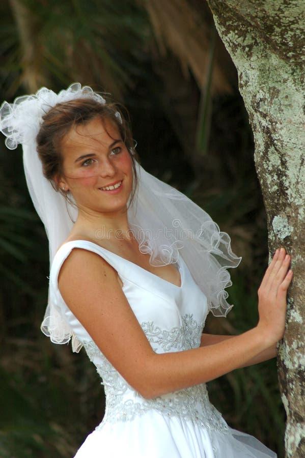 Het verbergen van de bruid stock afbeeldingen