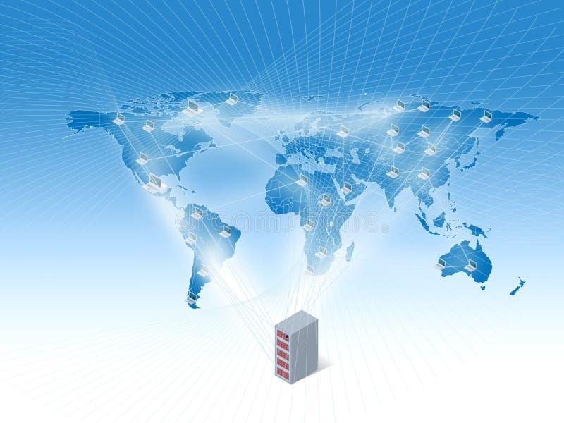Het verbinden van de wereld vector illustratie