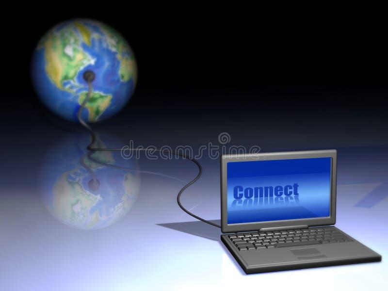 Het verbinden van de wereld stock illustratie