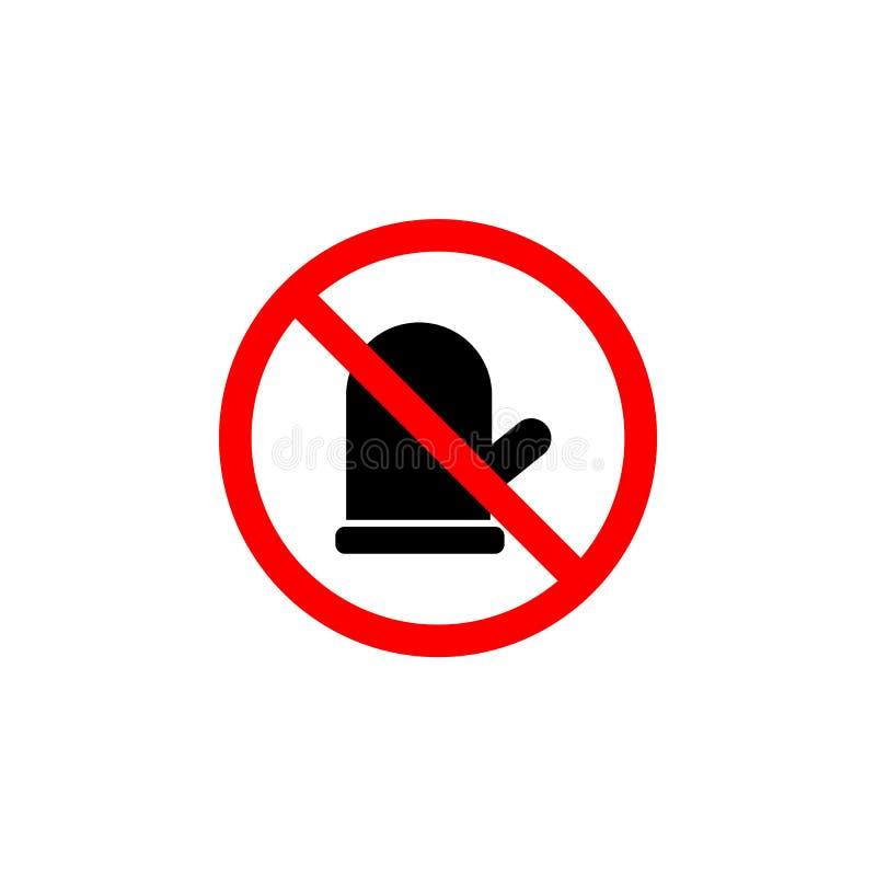 Het verboden vuisthandschoenpictogram op witte achtergrond kan voor Web, embleem, mobiele toepassing, UI UX worden gebruikt stock illustratie