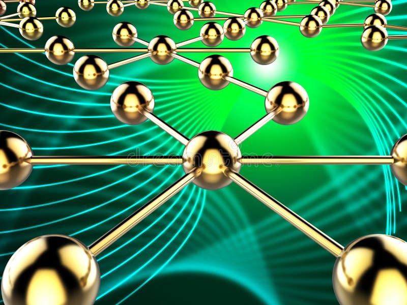 Het verbonden Netwerk wijst op Globale Mededelingen en Computer stock illustratie