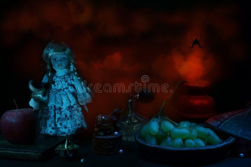 Het verborgen Stilleven van Verschrikkingenhalloween stock afbeelding