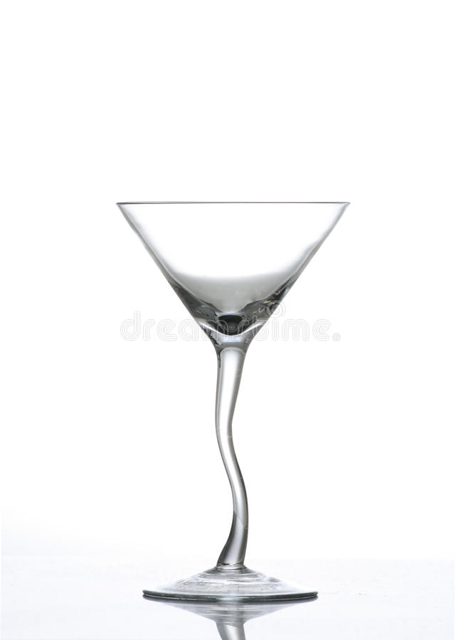 Het verdraaide Glas van Martini van de Stam royalty-vrije stock foto