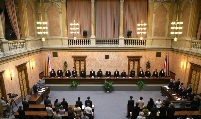 Het verdrag van Lissabon op Tsjechisch Constitutioneel Hof royalty-vrije stock foto