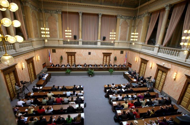 Het verdrag van Lissabon op Tsjechisch Constitutioneel Hof royalty-vrije stock afbeeldingen