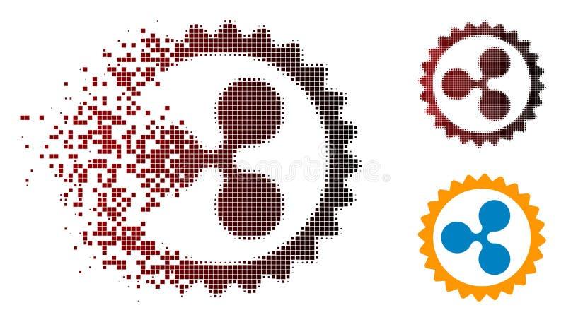 Het verdwijnende Pictogram van de de Rimpelingszegel van Pixelated Halftone vector illustratie