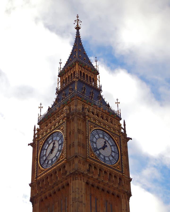 Het Verenigd Koninkrijk Londen, Big Ben-toren stock foto's