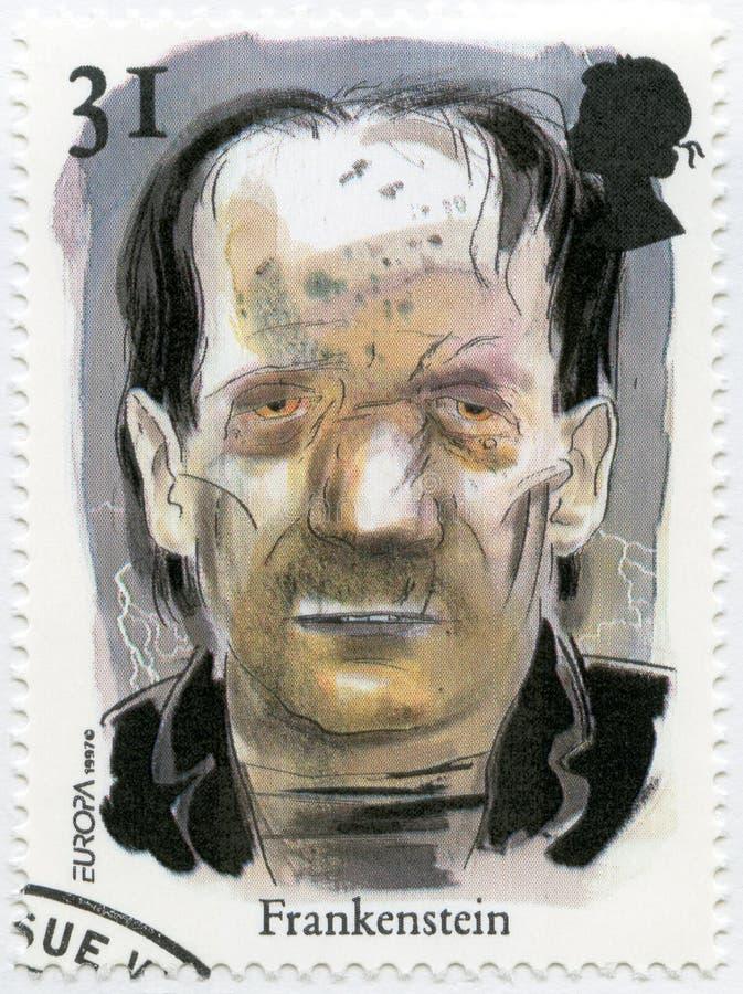 HET VERENIGD KONINKRIJK - 1997: toont het Frankenstein-Monster, de reeksverhalen en de Legenden stock fotografie