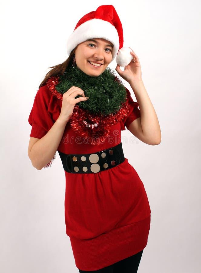 Het verfraaien voor Kerstmis royalty-vrije stock afbeeldingen