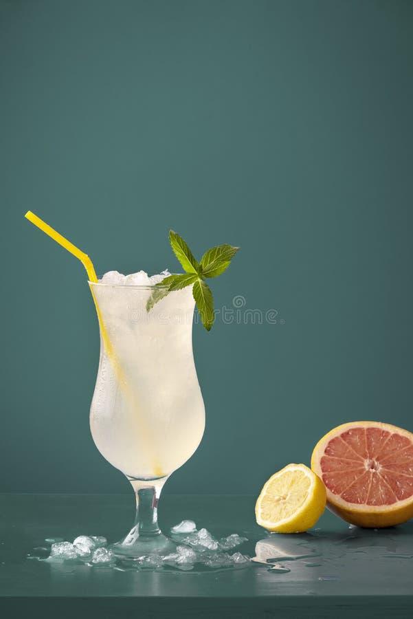 Het verfrissen van frisdrank met citroen en grapefruit royalty-vrije stock afbeeldingen
