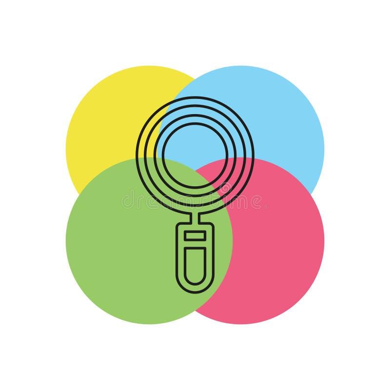 Het vergrootglassymbool, vindt pictogram - zoek knoop royalty-vrije illustratie