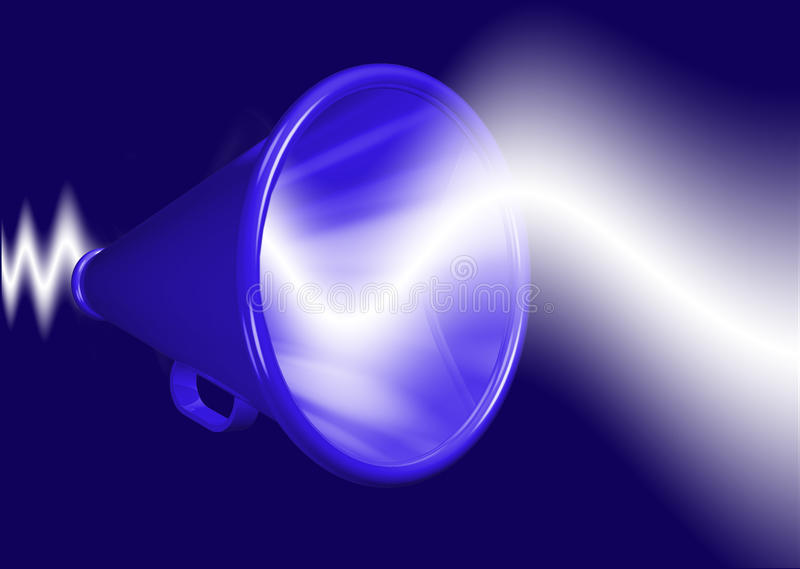 Het vergroten van de megafoon stem vector illustratie