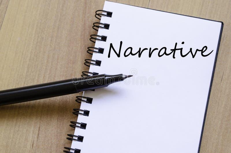 Het verhaal schrijft op notitieboekje stock afbeelding