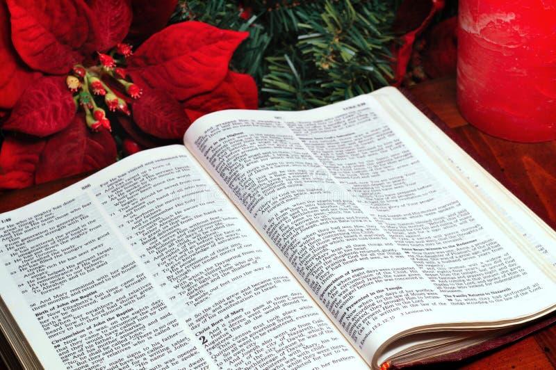 Het verhaal van de geboorte van Christus stock foto's