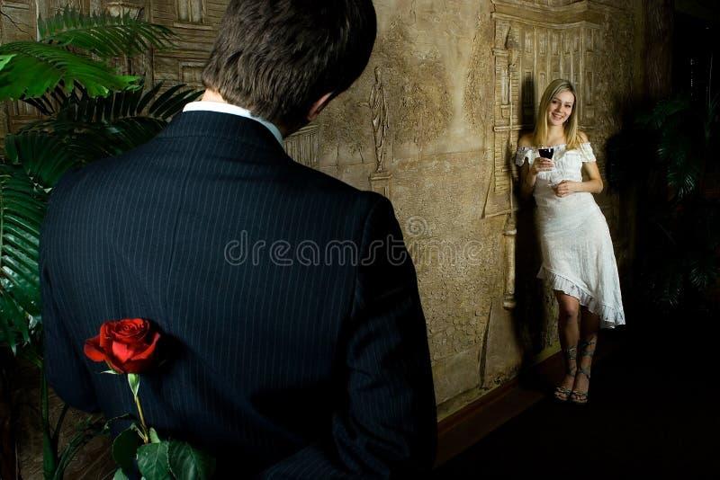 Het verhaal van de liefde? stock foto's